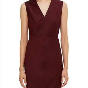 NWT Ted Baker Edge to Edge Suit Dress Oxblood